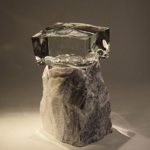 Little Light Receiver, White/Grey Marble
